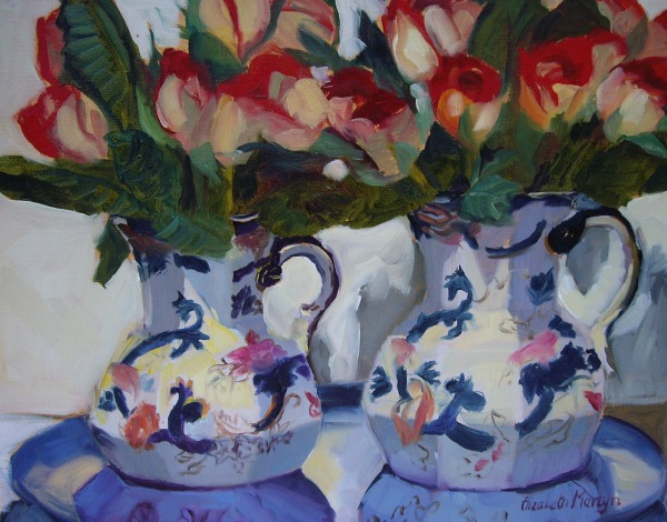 Twin Vases By Elizabeth Martyn Artist Water Colour Art Classes