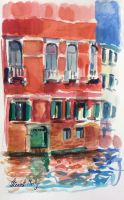 Red house in Venice by Elizabeth Martyn
